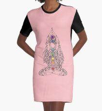 Yoga Om Chakras Mindfulness Meditation Zen 1 Graphic T-Shirt Dress