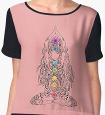 Yoga Om Chakras Mindfulness Meditation Zen 1 Women's Chiffon Top