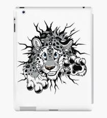 STUCK Snow Leopard (black paw pads) iPad Case/Skin
