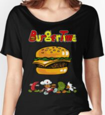 Burger Time Retro  Women's Relaxed Fit T-Shirt