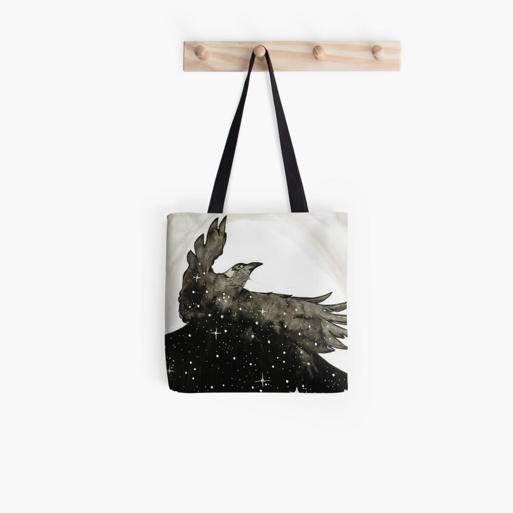 Krähe der Sterne Tote Bag