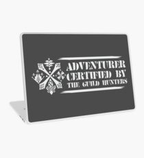 Certified By The Guild of Hunters HORIZONTAL WHITE Laptop Skin