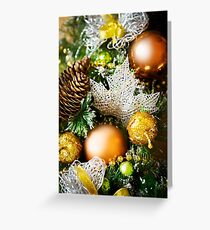 Christmas background with bright decoration Greeting Card