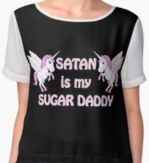 satan is my sugar daddy Chiffon Top