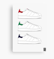 stan smith illustration 3 colors. Canvas Print