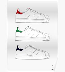 stan smith illustration 3 colors. Poster