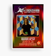 George Leutz Q*Bert Rookie Card Canvas Print