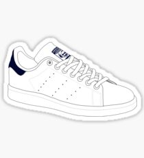 stan smith  illustration Blue pair. Sticker