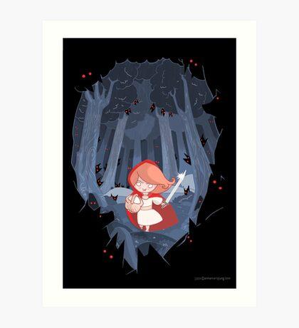 Little Red Fighting Hood Art Print