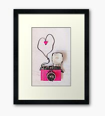 Camera love - Diana F+ lomography Framed Print