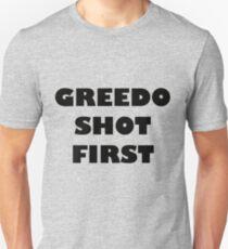 Greedo Shot First Unisex T-Shirt