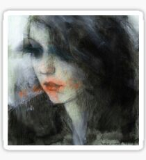 pensive girl Sticker