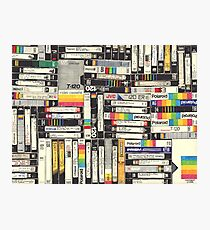 80´S VHS TAPES Photographic Print