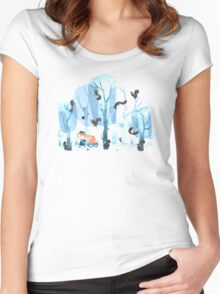 Squinjas! Women's Fitted Scoop T-Shirt