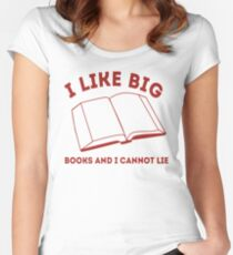 Big Books Women's Fitted Scoop T-Shirt