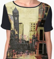 Foshay Tower Chiffon Top