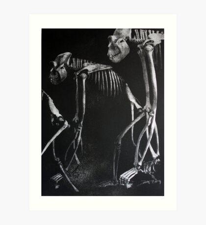 GORILLA BONES (For the Coming Extinctions) Art Print