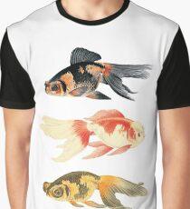 Botanical Fish Trio Print Graphic T-Shirt
