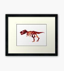 Trex Watercolor Painting Tyrannosaurus Skeleton Poster Indominus Dinosaur Framed Print