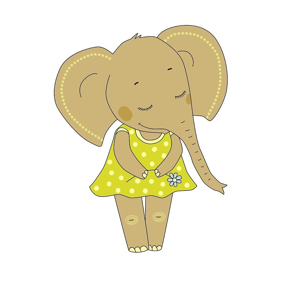 Cute elephant girl by MayyaIva