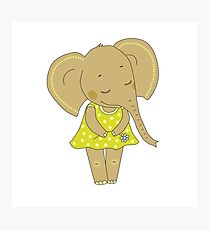 Cute elephant girl Photographic Print