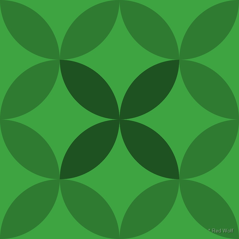 Geometric Pattern: Circle Nested: Emerald by * Red Wolf