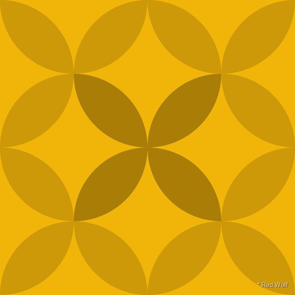 Geometric Pattern: Circle Nested: Sunshine by * Red Wolf