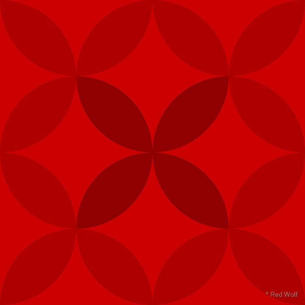 Geometric Pattern: Circle Nested: Ruby by * Red Wolf