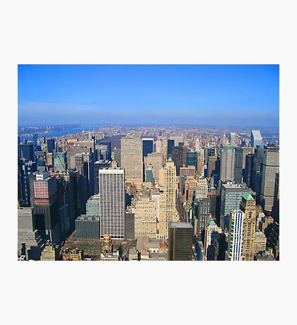 Manhattan New York City from Empire State Building  Photographic Print