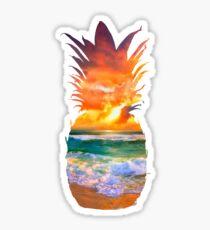 Sunset Pineapple Sticker
