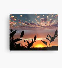 Planet Sunset Metal Print