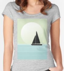Sailboat Beach Days Women's Fitted Scoop T-Shirt