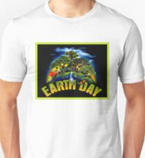 EARTH DAY; Conservation Advertising Print T-Shirt