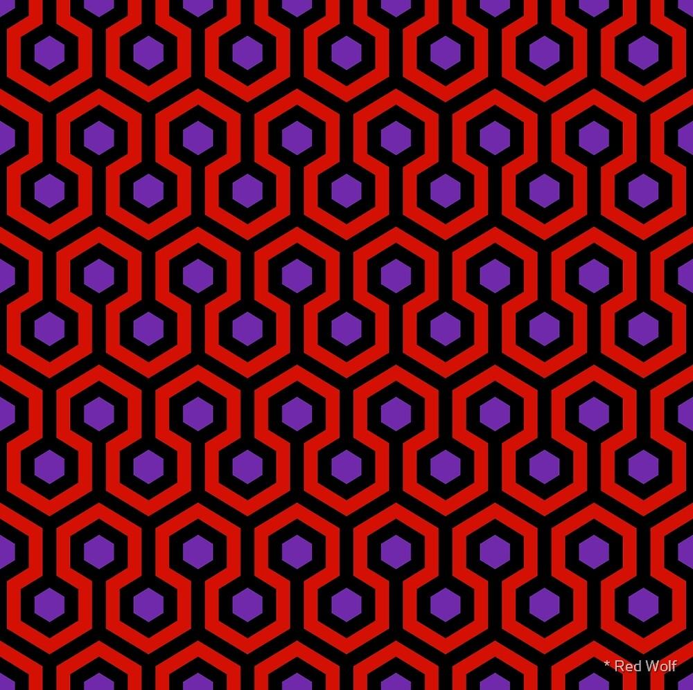 Geometric Pattern: Looped Hexagons: Virginie by * Red Wolf
