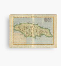 Old jamaica map canvas prints redbubble vintage map of jamaica 1780 canvas print gumiabroncs Images