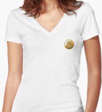 JAF Medallion Women's Fitted V-Neck T-Shirt