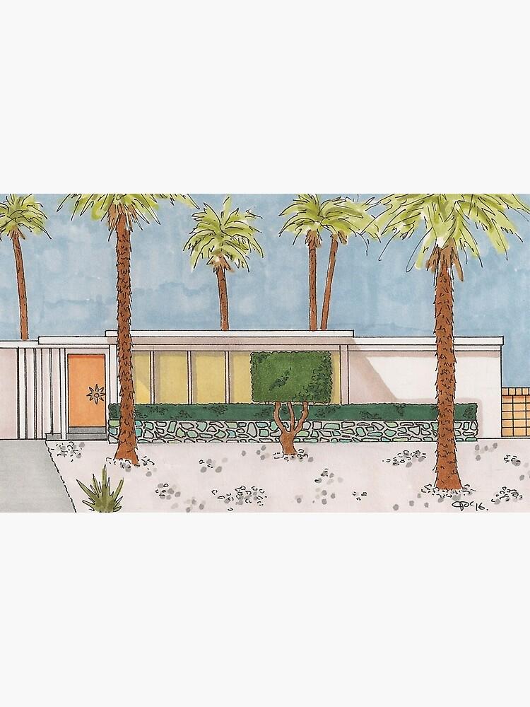 Palm Springs Mid-Century Modern Melon Door by Jakegariepy