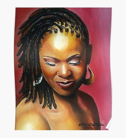 Lady with braids Poster