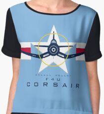 F4U Corsair Warbird Graphic1 Chiffon Top