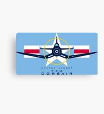 F4U Corsair Warbird Graphic1 Canvas Print