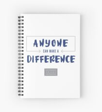 Anyone Can Make a Difference Belief Statement Spiral Notebook
