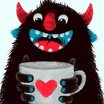 Demon with cup by limeart