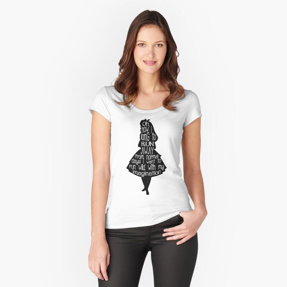 Cita Alicia en el país de las maravillas Camiseta entallada de cuello ancho