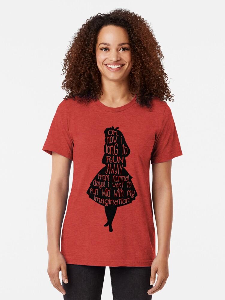 Vista alternativa de Camiseta de tejido mixto Cita Alicia en el país de las maravillas