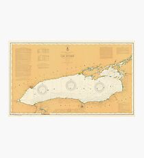 Map of Lake Ontario 1904 Photographic Print