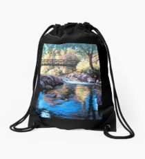 Boulder Creek Bridge - Late Afternoon Drawstring Bag