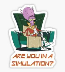 Rick and Morty – Are You in a Simulation? Sticker