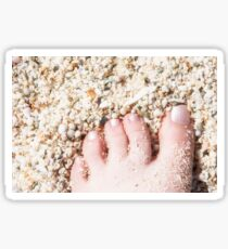 Seashells between her Toes Sticker