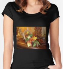 Thanksgiving Display Women's Fitted Scoop T-Shirt