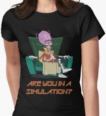 Rick and Morty – Are You in a Simulation? Womens Fitted T-Shirt